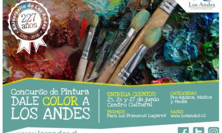 """Concurso """"Dale Color a Los Andes"""" convoca a artistas andinos en etapa escolar"""