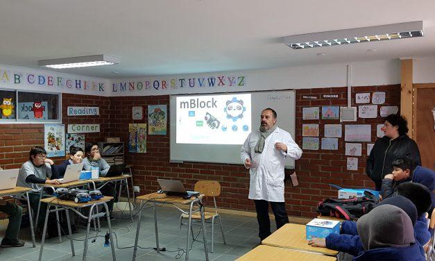 Instancia cooperativa en torno a la robótica en Escuela Río Blanco