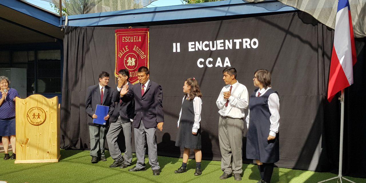 Educación cívica e intercambio de ideas en 2do encuentro de centro de alumnos en Escuela Especial Valle Andino