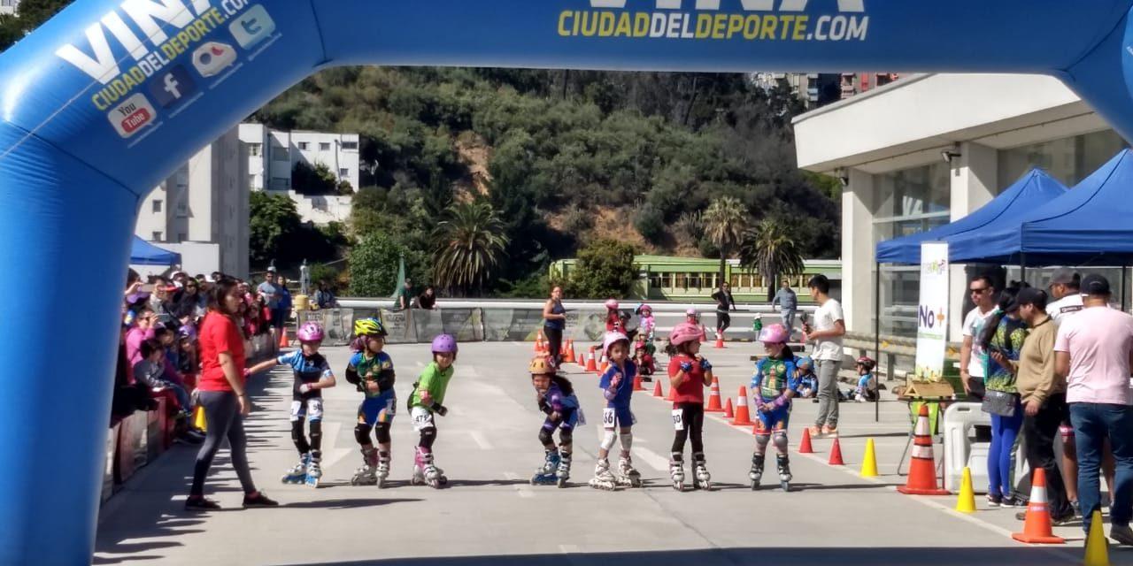 Estudiantes de establecimientos municipales de los andes logran destacados resultados en certamen de patinaje