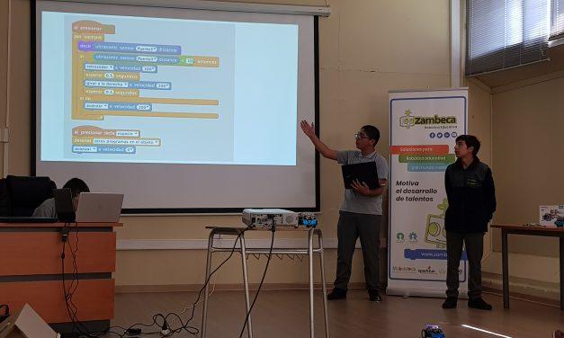Taller de robótica de Escuela Río Blanco Expone En Instancia Educativa Universidad de Playa Ancha