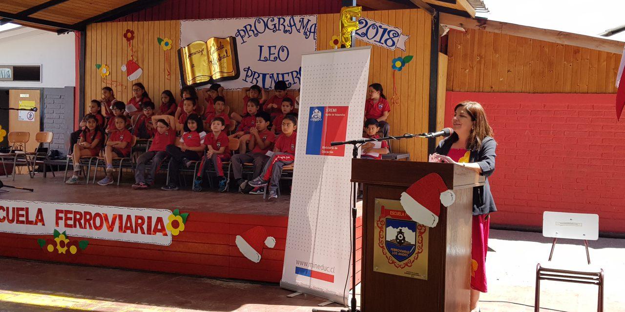 """En Escuela Ferroviaria de Los Andes se lanza a nivel regional el Programa """"Leo Primero"""""""
