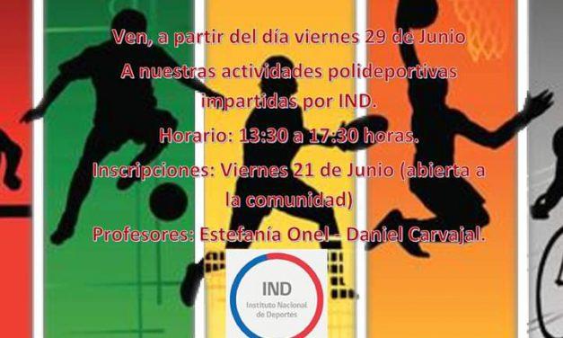 Escuela España invita a la comunidad a realizar actividad física