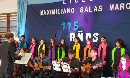Liceo Maximiliano Salas Marchán celebra 115 años junto a Los Andes