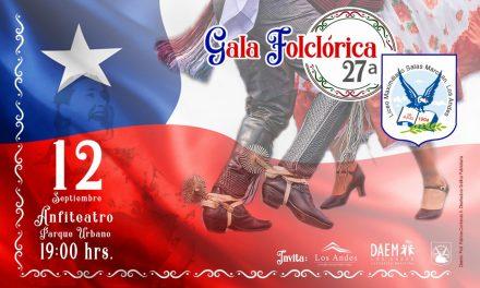 Con presentación en Parque Urbano Liceo Max Salas invita a su 27ª Gala Folclórica