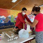 Liceo República Argentina entrega cajas de mercadería a familias afectadas por crisis sanitaria