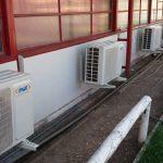 En Escuela Valle Andino instalan climatización en salas de clases