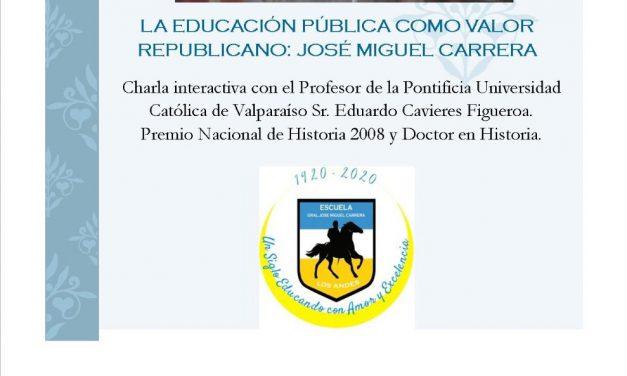 Invitan a charla sobre José Miguel Carrera