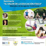 Invitan a participar en seminario sobre el valor de la Educación Física