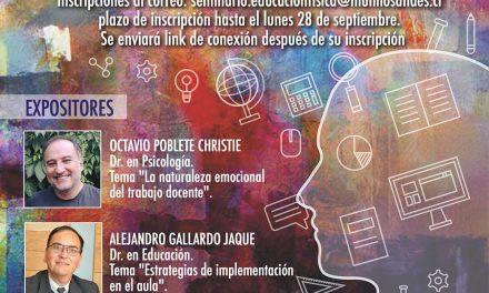 """Invitan a participar en seminario """"El desafío emocional del trabajo educativo"""""""