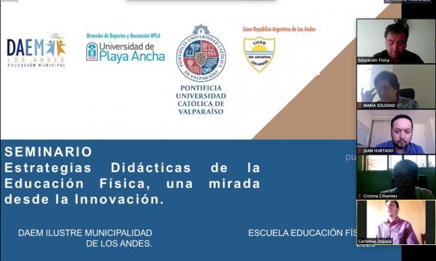 """Se desarrolló Seminario """"Estrategias didácticas de la Educación Física, una mirada desde la innovación"""""""