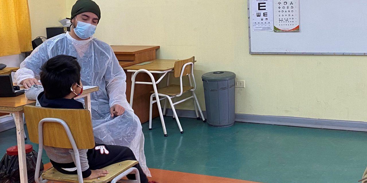 Junaeb realiza atención oftalmológica a escolares de la comuna de Los Andes
