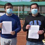 Firman convenio para clases gratuitas de tenis dirigidas a estudiantes de establecimientos municipales