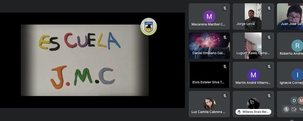 Escuela José Miguel Carrera celebró 101 aniversario con masiva participación online de la comunidad educativa