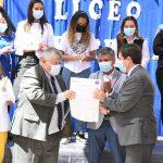 """Liceo Técnico Amancay firma """"Compromiso Bicentenario 2021"""" de excelencia educativa"""